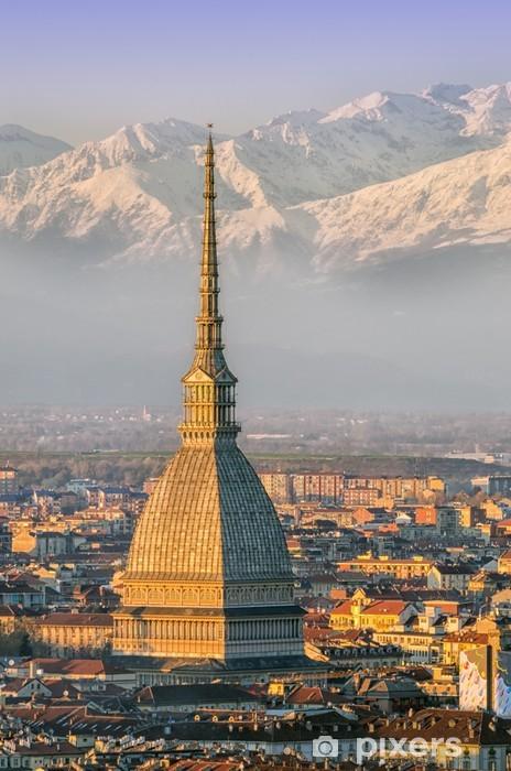 Fototapeta winylowa Turyn (Torino), Mole i Alpy - Europa