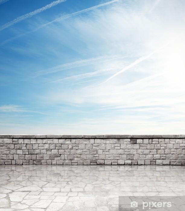 Papier peint vinyle Terrasse en pierre - Vacances