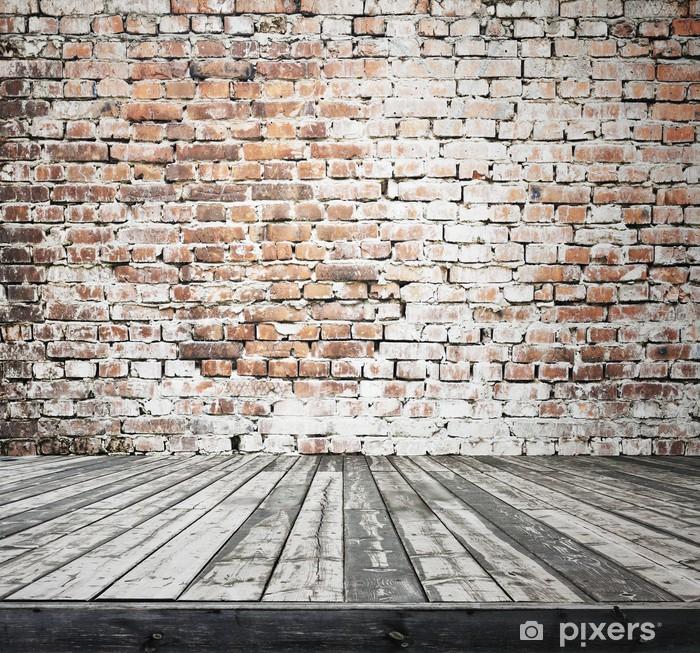 Papier peint vinyle Ancienne chambre avec mur de brique. - Styles