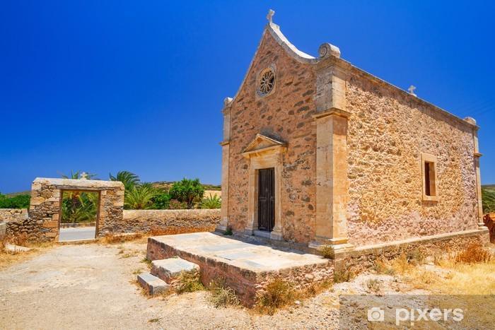 Nálepka Pixerstick Malé tradiční kostel na Krétě, v Řecku - Evropa