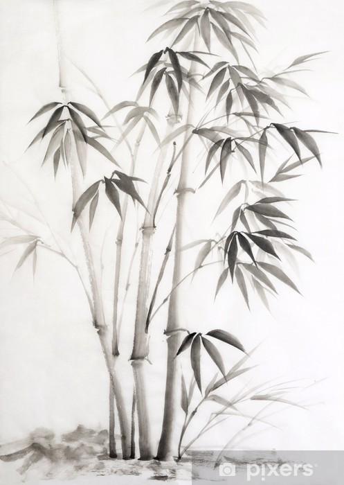 Vinyl Fotobehang Aquarel schilderij van bamboe - Stijlen