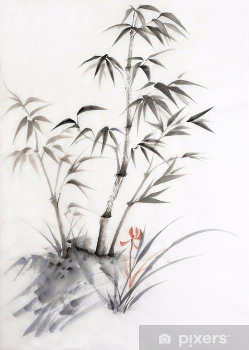 Fototapeta winylowa Bambusa i orchidei - Style