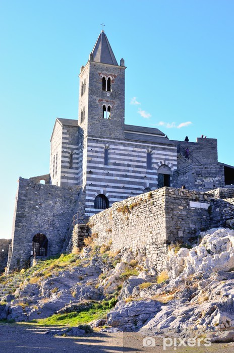 Nálepka Pixerstick Kostel San Pietro v Portovenere, Itálie - Prázdniny