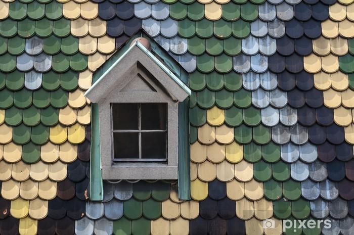 Sticker Pixerstick Bardeaux de toit. - Villes européennes