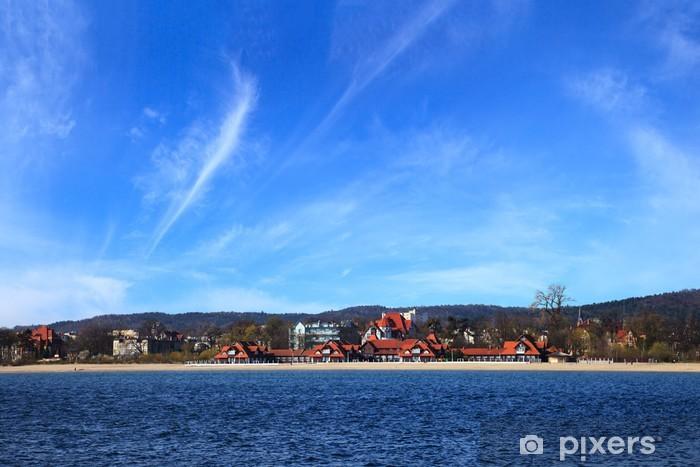 Papier peint vinyle Vue de la jetée de la plage à Sopot, en Pologne. - Thèmes