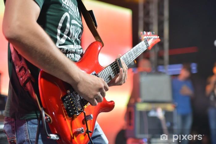 Naklejka Pixerstick Rock guitar - Rock