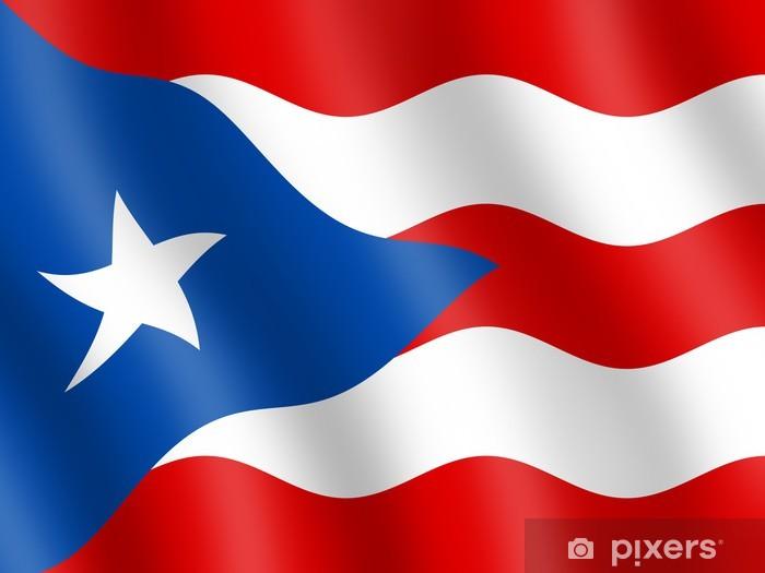 Flag of Puerto Rico Vinyl Wall Mural - America