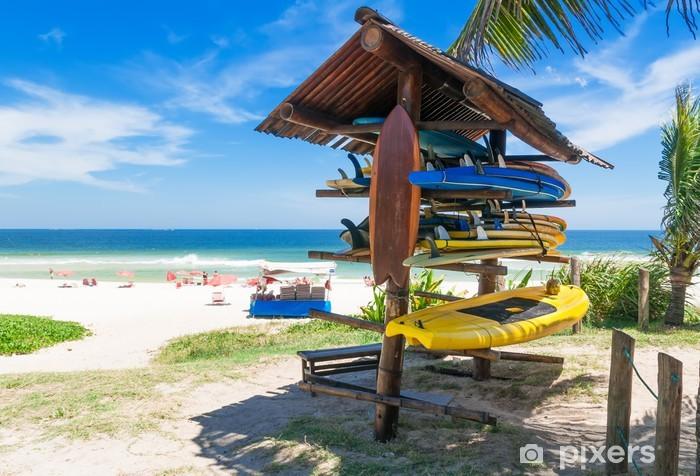 Fotomural Estándar Tablas de surf en la playa en Río de Janeiro. Brasil - Brasil