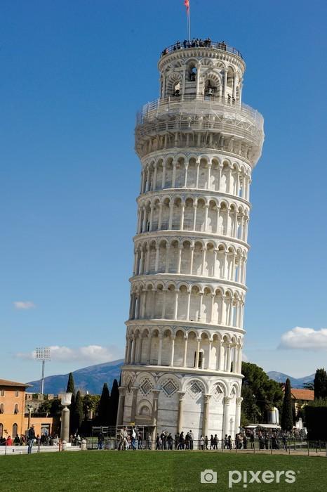 Naklejka Pixerstick Krzywa wieża w Pizie - Zabytki