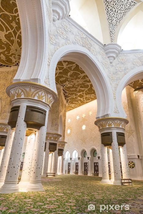 Vinyl-Fototapete Abu Dhabi Sheikh Zayed Moschee, schöne Innen - Naher Osten