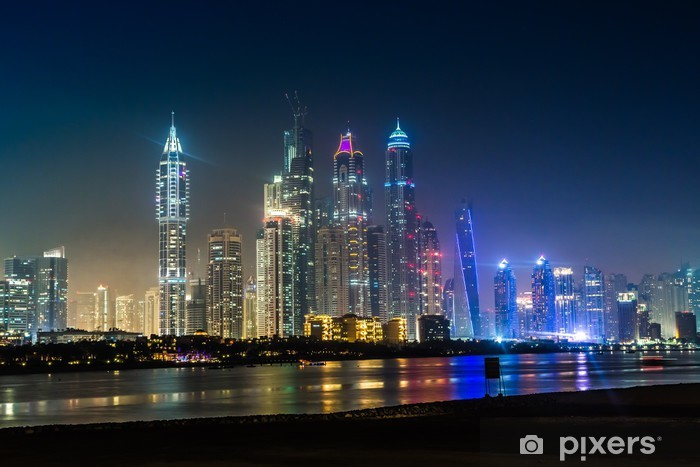 Vinylová fototapeta Dubaj Marina panoráma, Spojené arabské emiráty - Vinylová fototapeta