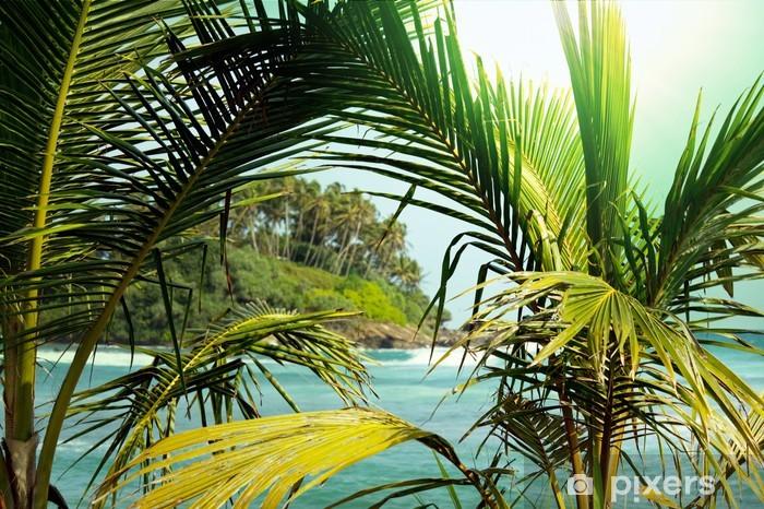Sticker Pixerstick Tropical island - Thèmes