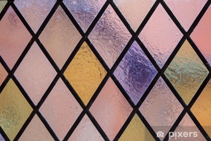 Papier peint vinyle Vitrail de losanges multicolores comme arrière-plan - Textures