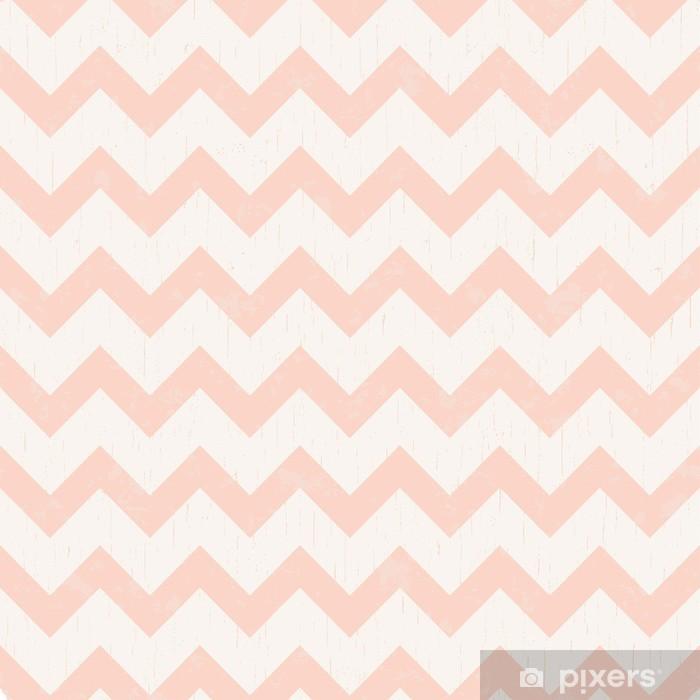 Sømløse chevron pink mønster Vaskbare fototapet -
