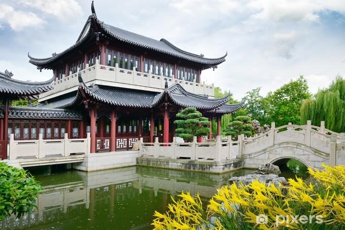 Fotomural Estándar Pagoda en el lago - Construcciones particulares