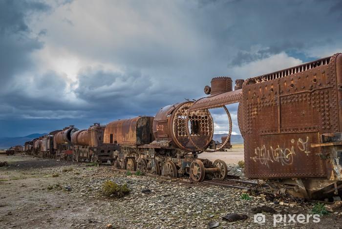Papier peint vinyle Cimetière de train, Uyuni, Bolivie - Thèmes
