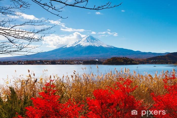 Pixerstick Sticker Mt. Fuji in de herfst - Thema's