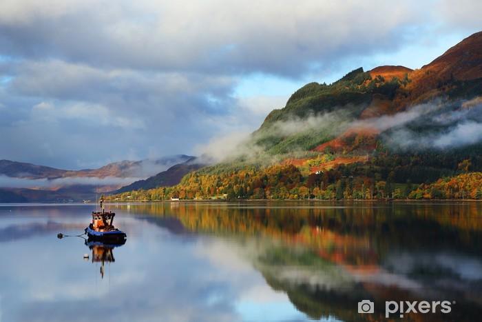 Autumn colours in Highlands, Scotland, Europe Pixerstick Sticker - Europe