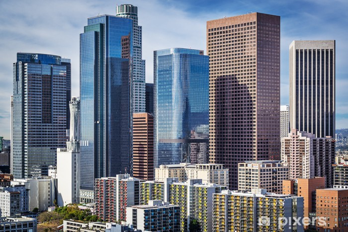Downtown Los Angeles, California Cityscape Vinyl Wall Mural - Themes