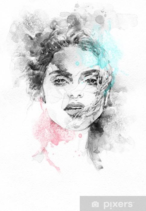 Fototapeta winylowa Piękna kobieto. ręcznie malowane ilustracji mody - Tematy
