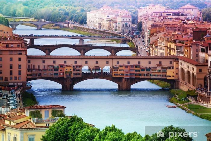 Papier peint vinyle Ponte Vecchio sur l'Arno - Europe