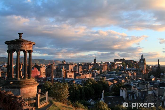 Fototapeta zmywalna Edynburg Szkocja skyline słońca z Zamek w Edynburgu - Tematy