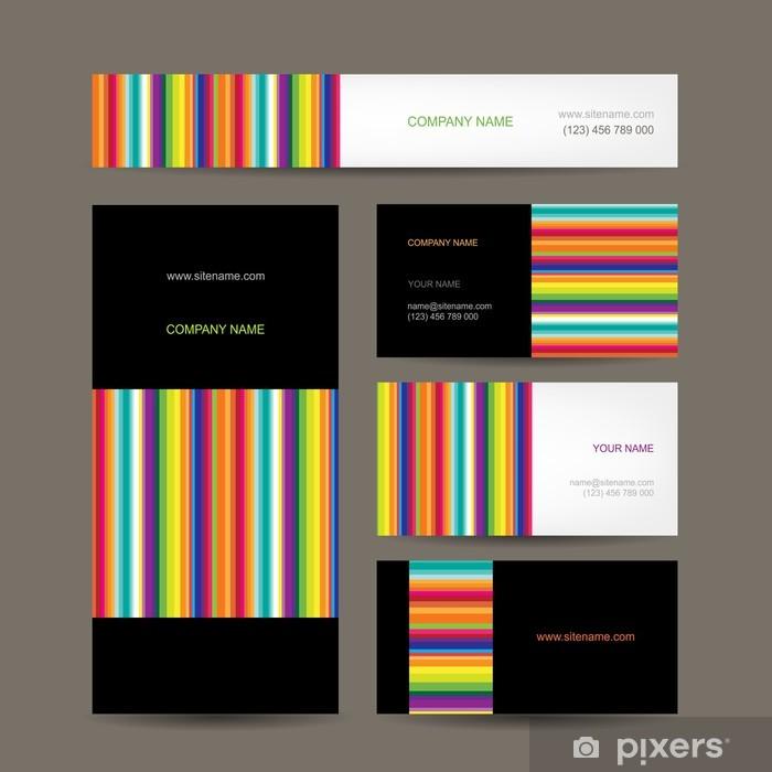 Fototapete Set Von Abstrakten Kreative Visitenkarten Design