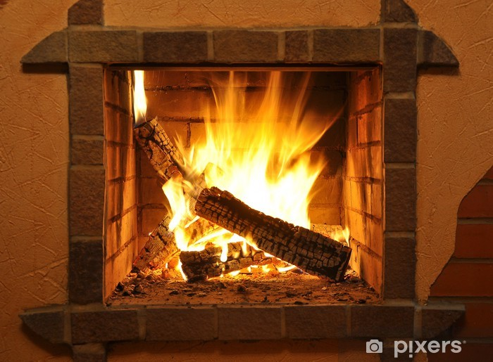 fire-place Pixerstick Sticker - Themes