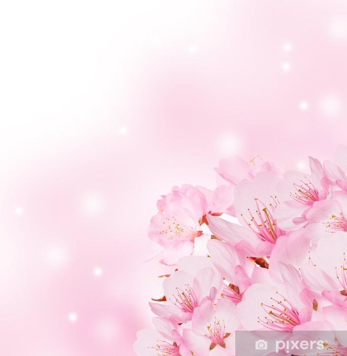 Fotomural Primavera De Fondo Con Flores De Color Rosa