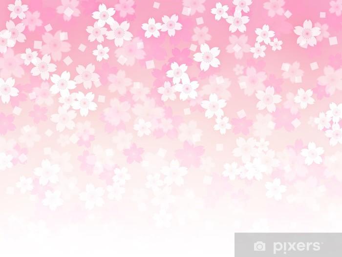 Nálepka Pixerstick Sakura pozadí - Pozadí