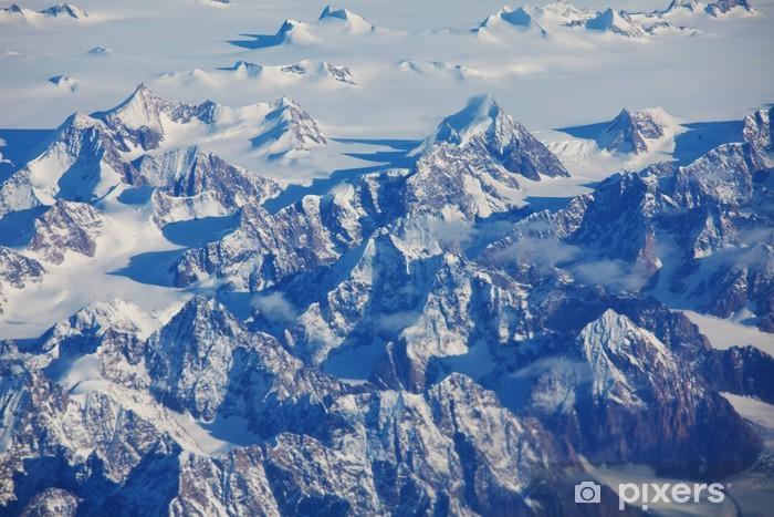 Papier peint vinyle Vue de l'avion - Nature et régions sauvages