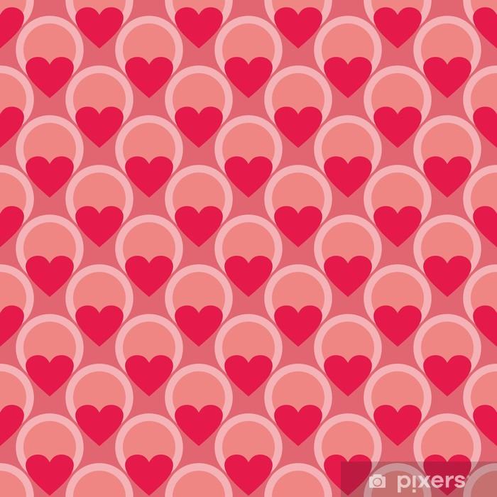 Poster Modèle vectoriel rose et rouge ou fond avec des coeurs - Fêtes internationales