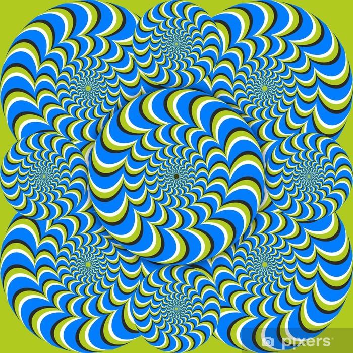 Poster Cercles d'ondes d'illusion optique - Thèmes