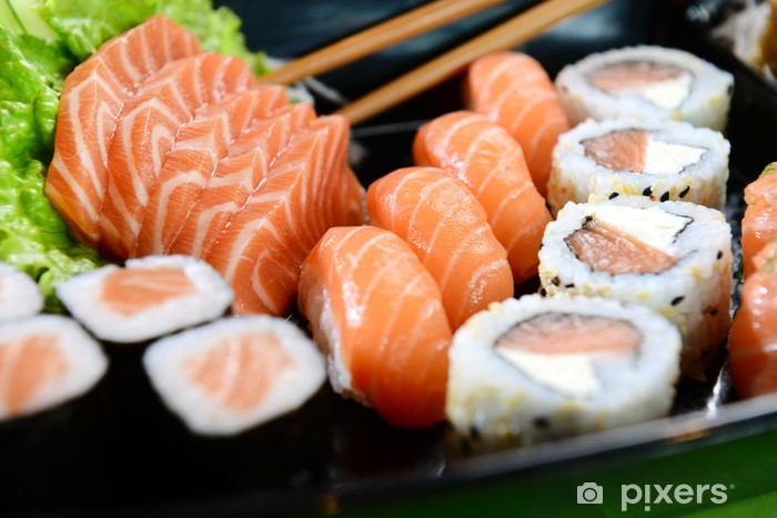 Papier peint vinyle Nourriture japonaise sushi - Sushi