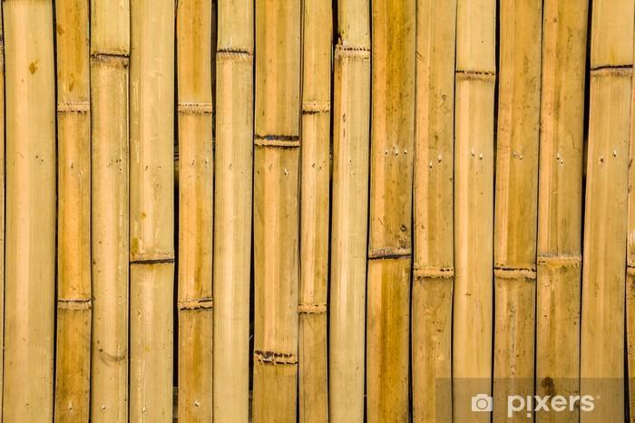 Vinilo Pixerstick Textura de bambú - Naturaleza y zonas salvajes