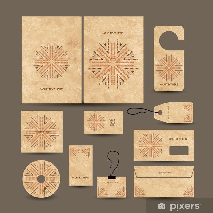 Vinylová fototapeta Vizitky sbírka, etnickém stylu pro svůj design - Vinylová fototapeta