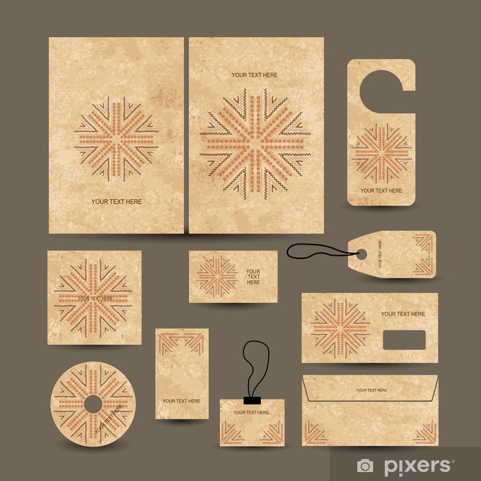 Business cards collection, ethnic style for your design Vinyl Wall Mural - Finance