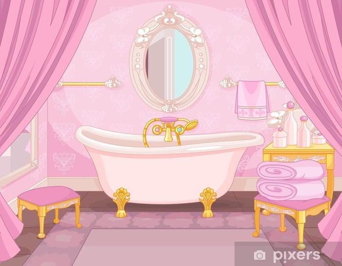 Naklejka Wnętrze łazienki W Zamku Pixerstick