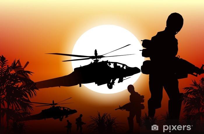 Nálepka Pixerstick Vojáci v akci - Témata