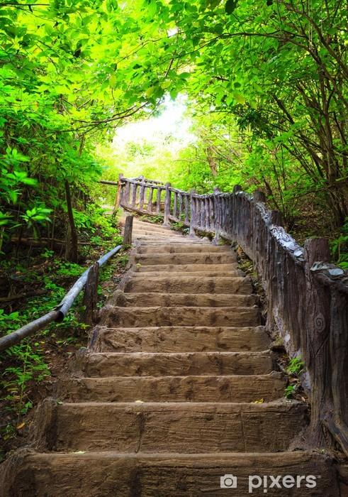 Vinilo para Nevera Escalera al bosque -