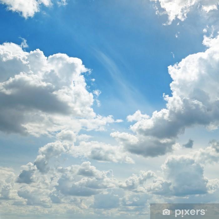 Papier peint vinyle La lumière des nuages dans le ciel bleu - Thèmes