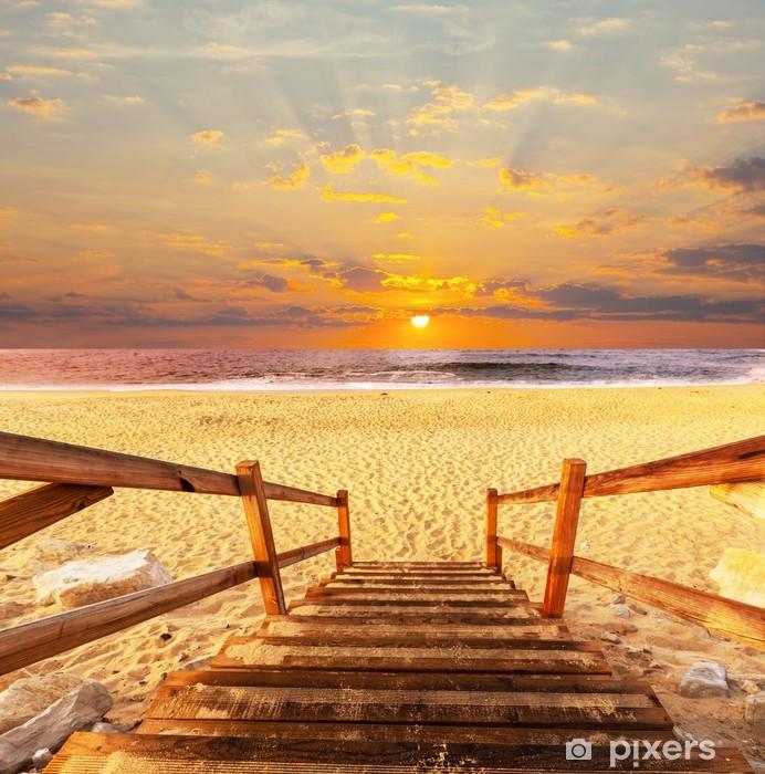 Fotomural Estándar Paseo marítimo en la playa - Temas