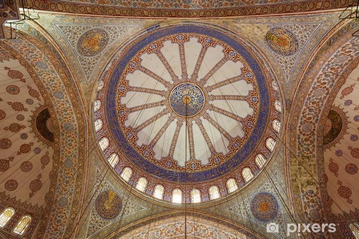 Papier peint vinyle Intérieur de la Mosquée Bleue - Bâtiments publics