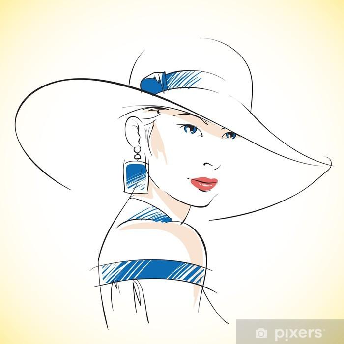 Papier peint vinyle Croquis de mode de la belle jeune femme - Autres sentiments
