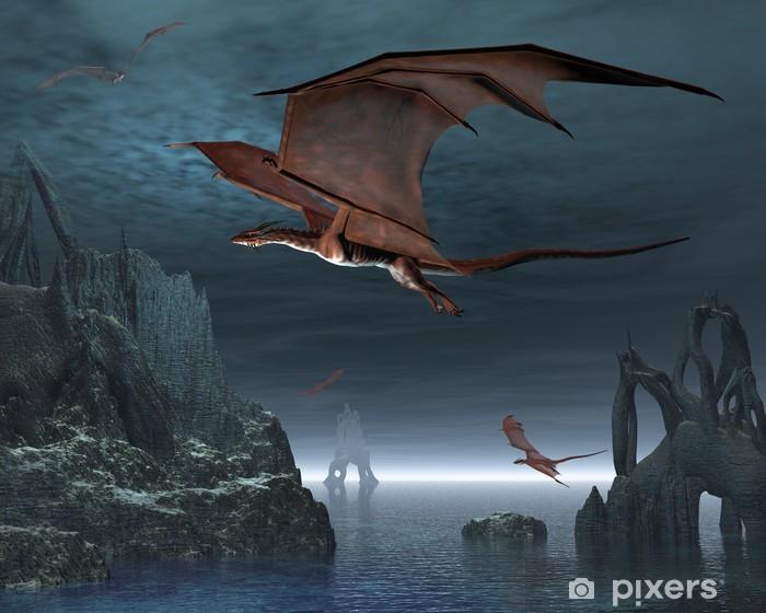 Papier peint vinyle Îles Red Dragon - Thèmes