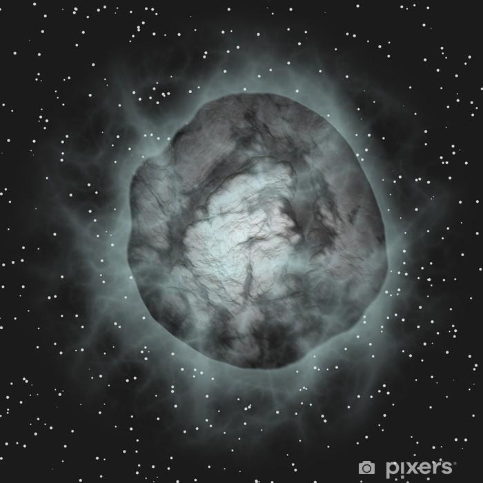 Poster Vol comète sur fond noir de l'espace - Arrière plans