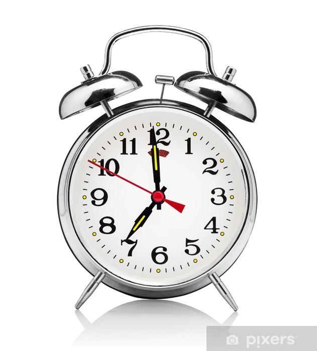 Fotomural Reloj despertador clásico aisladas sobre fondo blanco ...