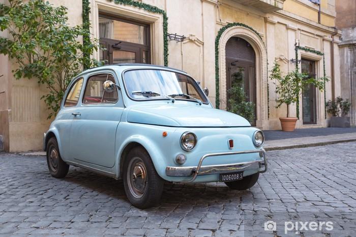 Vinil Duvar Resmi Fiat 500 dans les Rues de Rome -