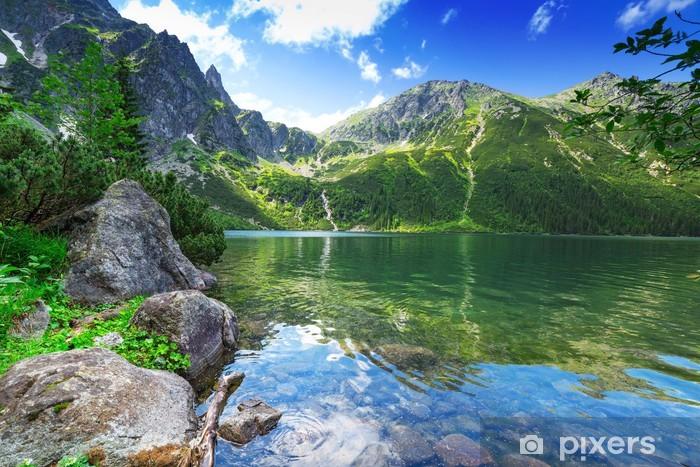 Sticker Pixerstick Oeil du lac mer dans les montagnes des Tatras, Pologne - Thèmes