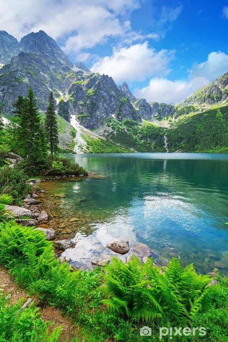 Eye of the Sea lake in Tatra mountains, Poland Pixerstick Sticker - Themes